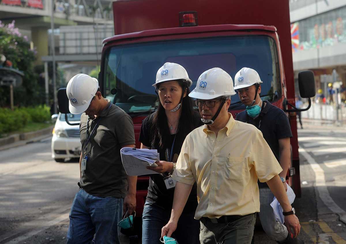 香港工業大廈大火燒108小時終被撲滅