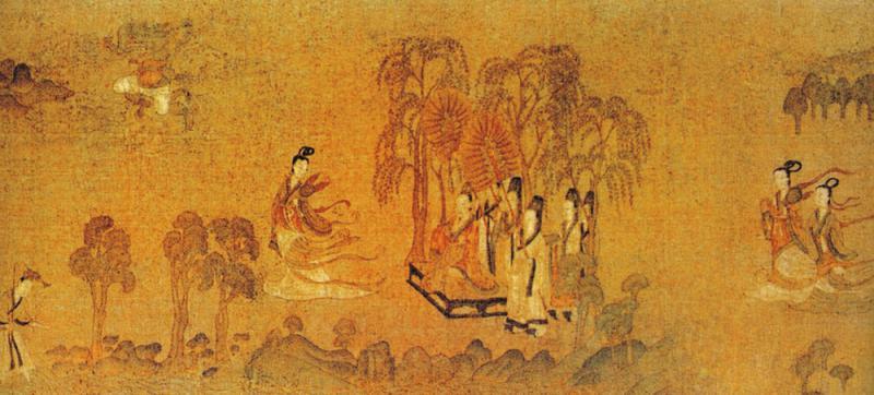 图:顾恺之《洛神赋图》中的送别场景/作者供图-画中离别意 李 梦