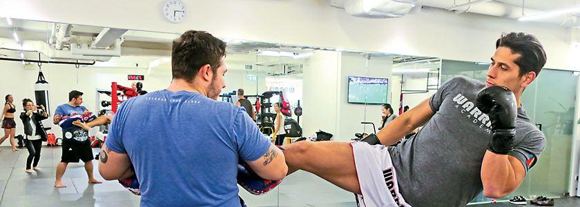 泰拳鍛煉腰腿助減壓