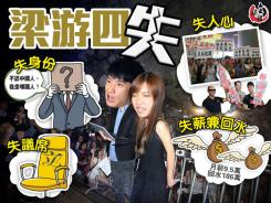 在香港立法會辱國播「獨」的梁游淪為「四失廢青」