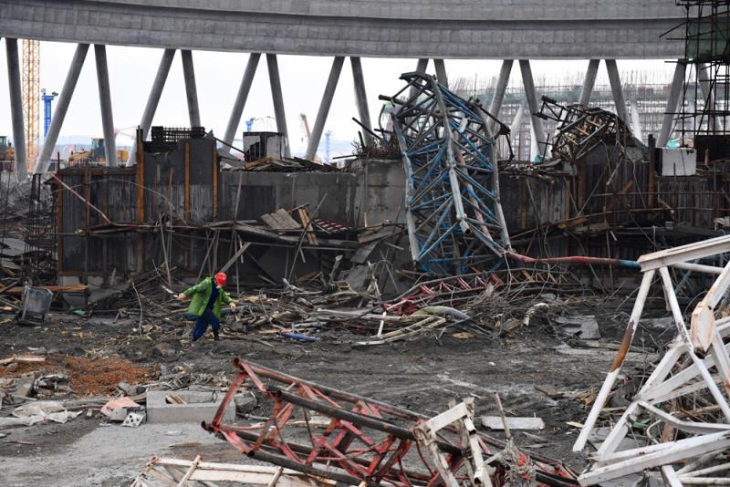图:江西丰城电厂坍塌事故现场