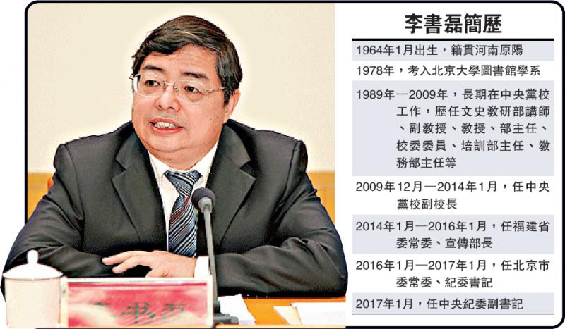 13李书磊升任中纪委副书记