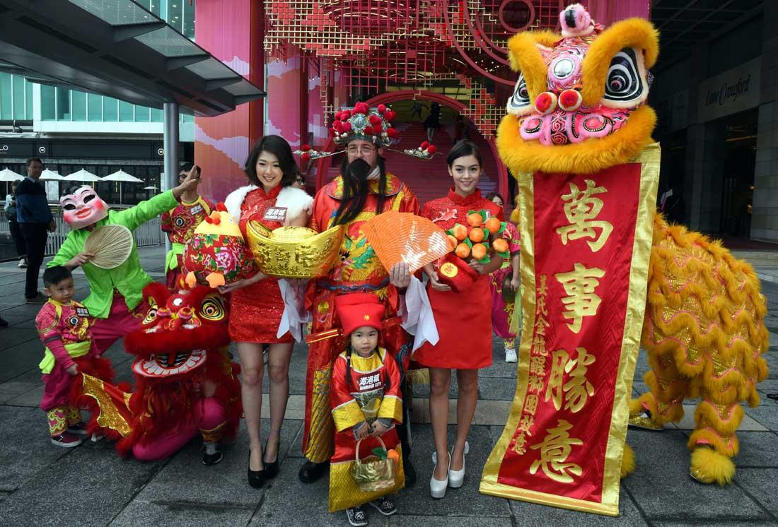 香港海港城:鯉躍龍門賀新歲