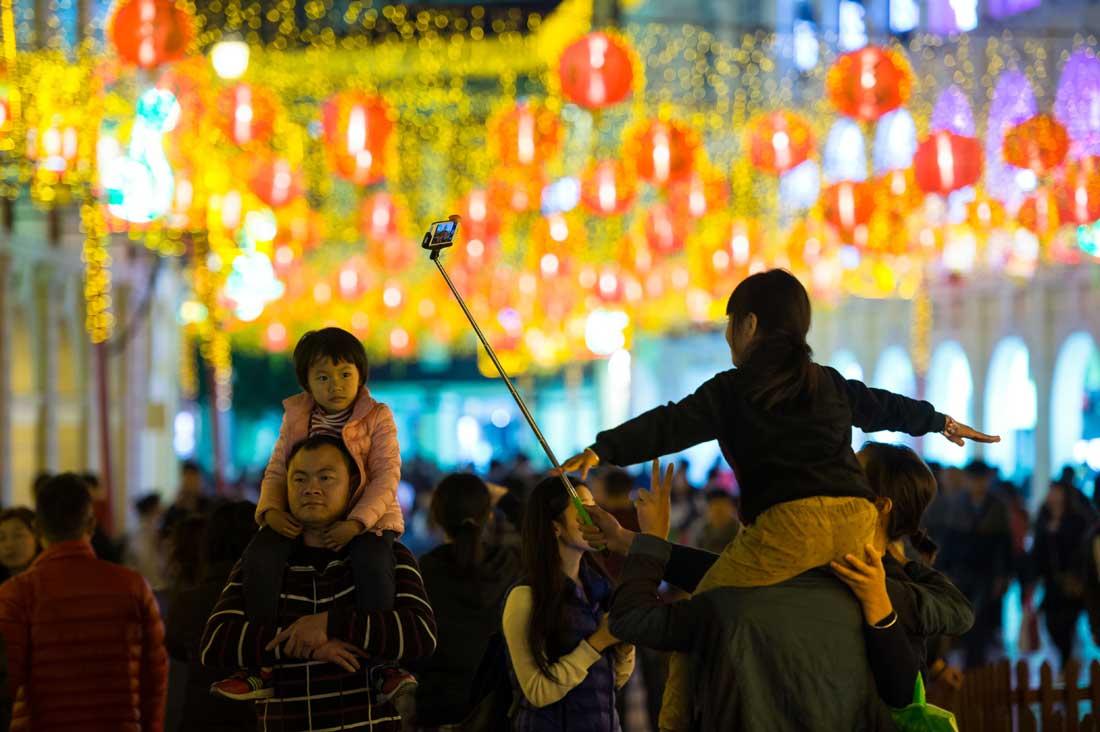 澳門農曆新年燈飾點亮
