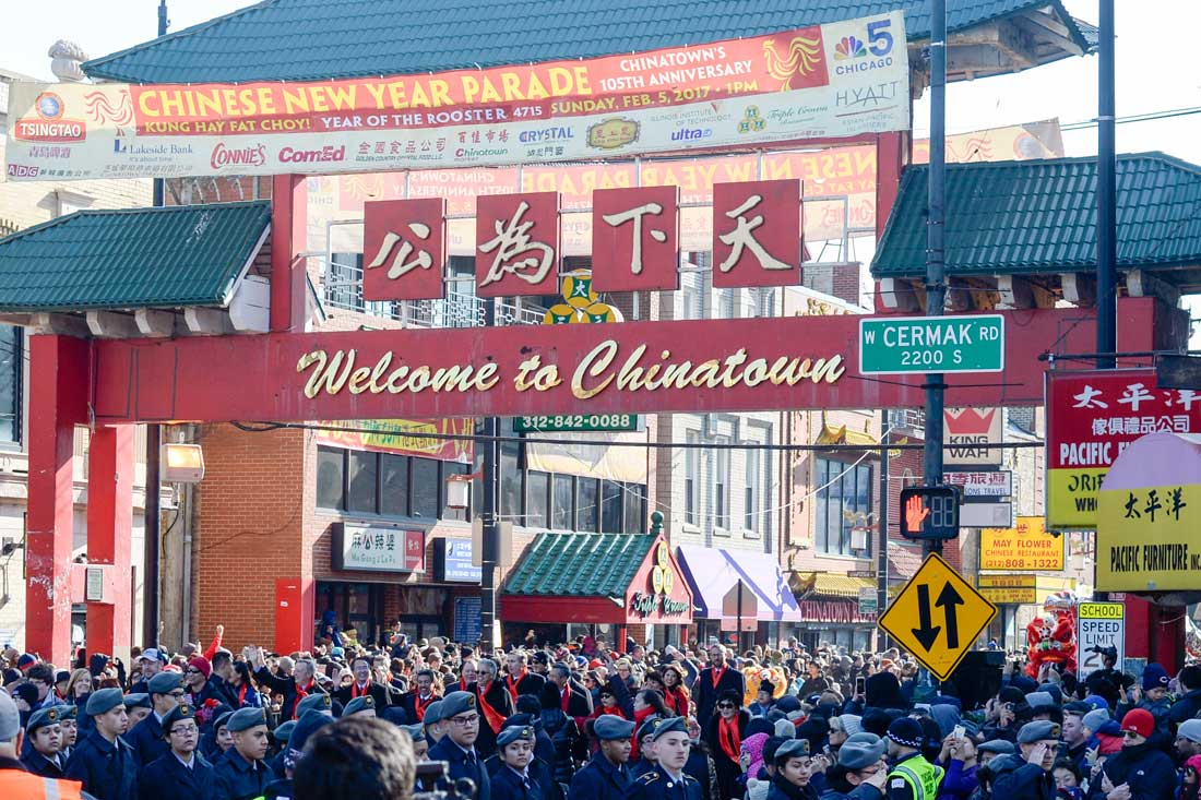 芝加哥中國城舉行新春遊行