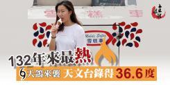 36.6度!香港錄得132年來最高溫