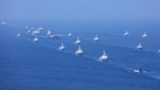 南海大阅兵宣示建设强大海军雄心