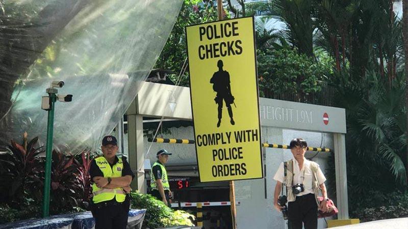 探访特朗普下榻酒店 新加坡将其划为特别活动区