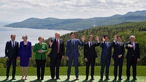 特朗普G7迟到又早退 威胁盟友勿报复