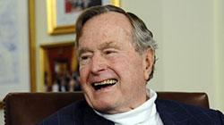 老布什成美国首位94岁高龄前总统 家中低调庆生