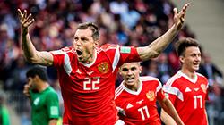 世界杯揭幕战 俄罗斯5-0沙特开门红