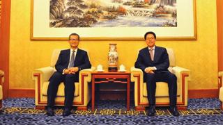 张晓明会见香港特区政府财政司司长陈茂波