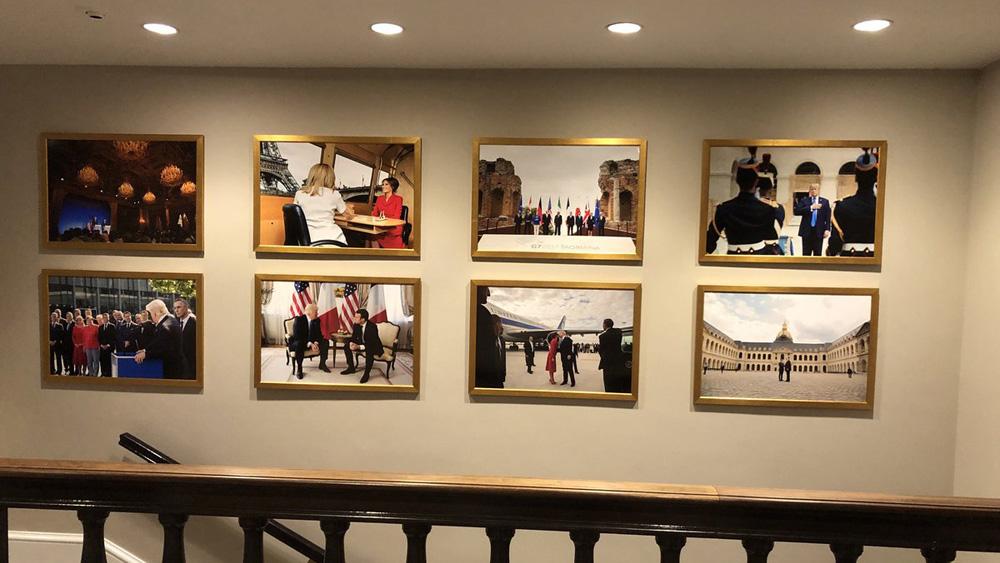 """白宫照片墙撤马克龙换金正恩 川普被笑称""""只见新人笑,不闻旧人哭"""""""