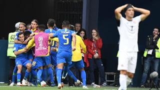 巴西补时进两球2-0绝杀哥斯达黎加