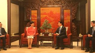 林郑月娥晤韩正 感谢中央一如既往支持香港