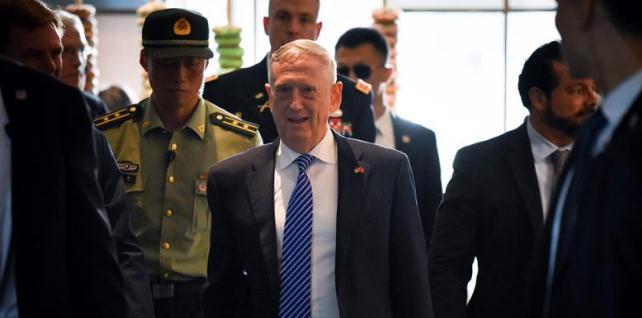 美國國防部長馬蒂斯抵京 稱愿傾聽中方意見