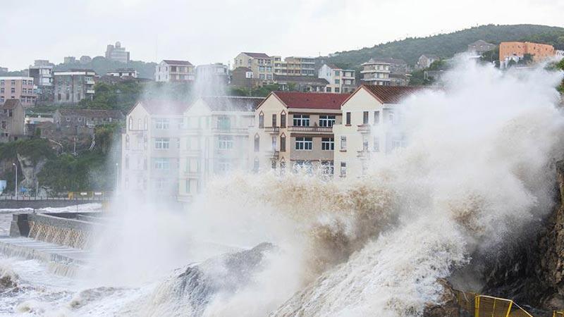 """台风""""玛莉亚""""登陆福建 浙江沿海局地现17级大风"""