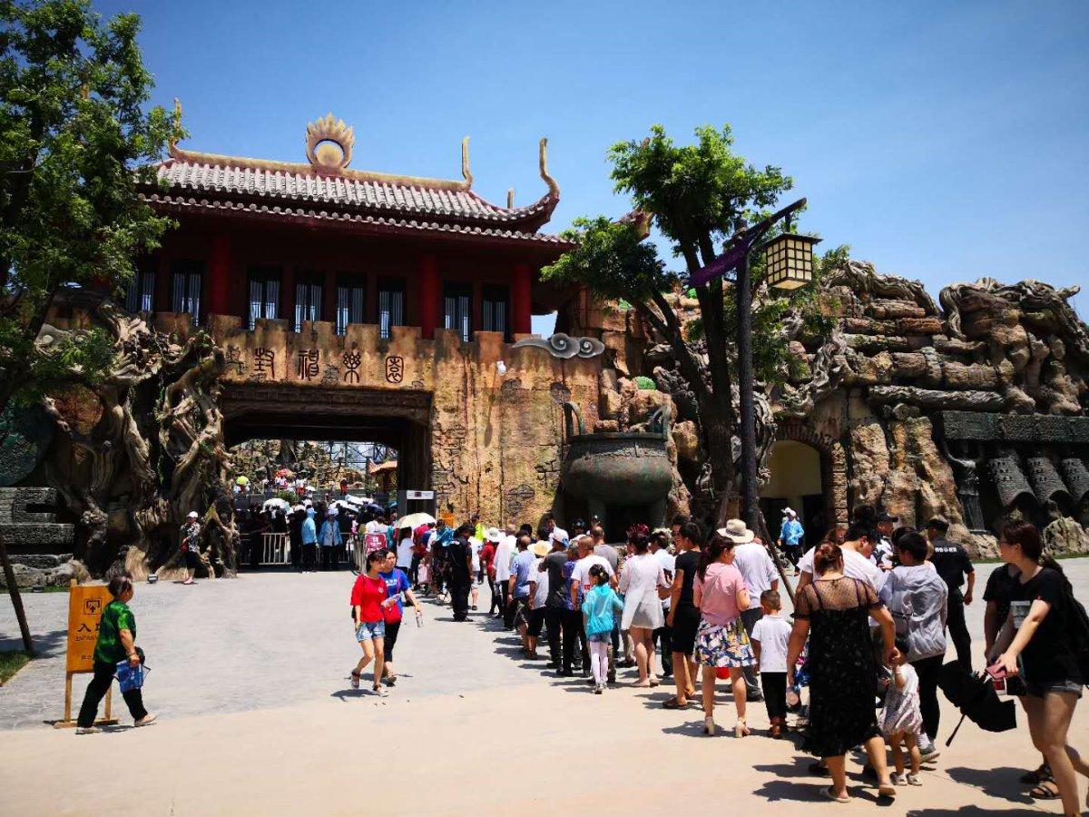 中国·周原景区7月18日正式开园迎客.(记者张仕珍 摄)