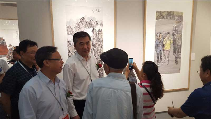 30余中国书画名家走进平凉 挥毫崆峒交流写生
