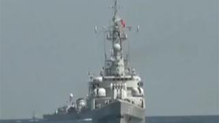 中国海军7艘战舰跨海区演习 模拟支援登陆作战