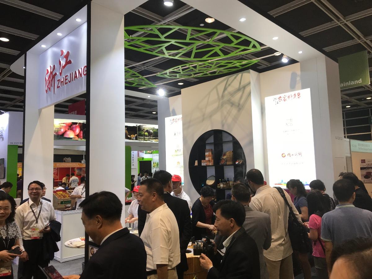 浙江名优特产亮相香港美食博览  甬港签乡村振兴合作协议