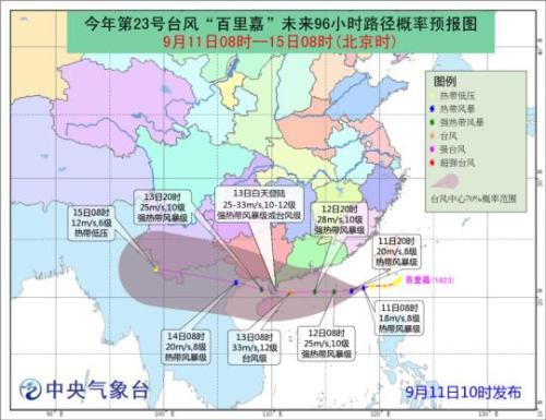 """受台风""""百里嘉""""影响 海南进出岛旅客列车将停运"""