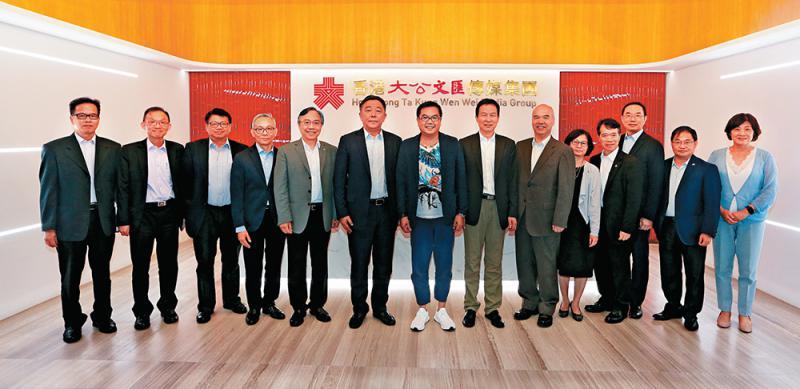 东华教育团队访大文集团交流