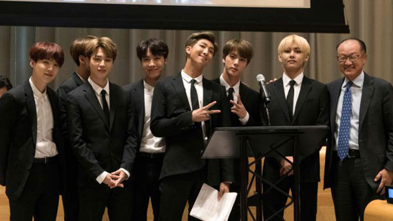 韩国男团BTS登上联合国舞台 呼吁年轻人爱自己