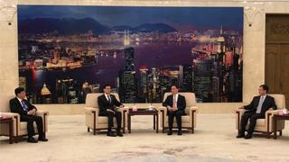 韩正会见香港工联会访京团