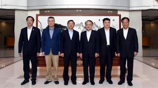王志民晤于伟国 冀闽港深化创新发展