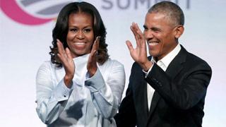 """?特朗普质疑奥巴马出生地 米歇尔 """"永不原谅他"""""""