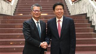 陳茂波北京晤王軍 探討內地港人稅務事宜