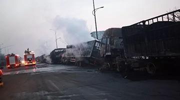 张家口22人死亡爆炸事故初步原因:运输乙炔车引起连环爆炸