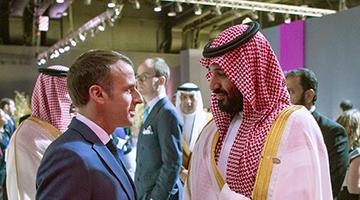 """马克龙要沙特王储""""听话""""的对话互联网风传"""