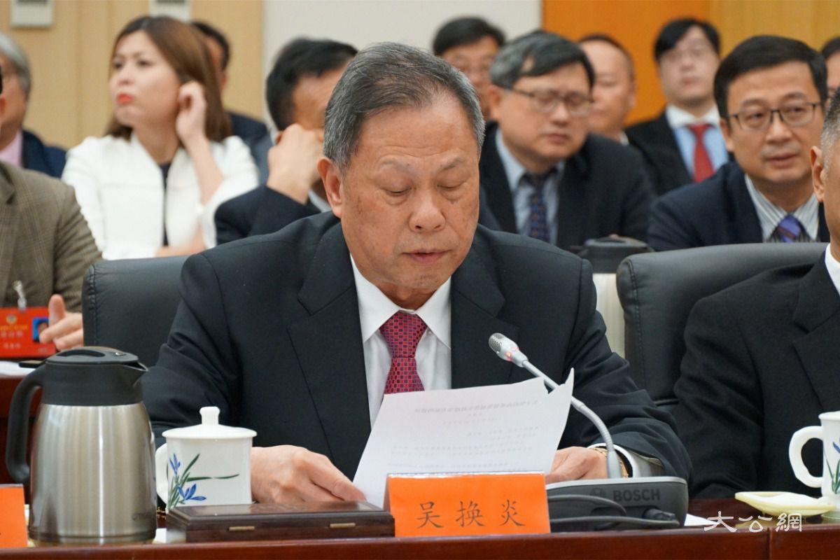 香港福建社团联会主席吴换炎建言福建高质量赶超 促进祖国统一