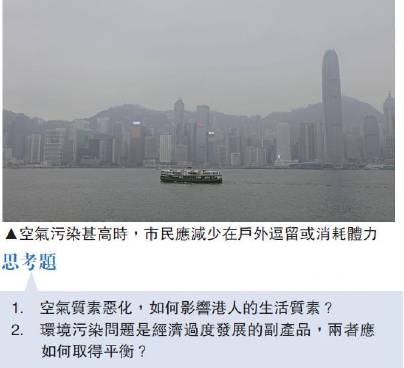 港空气污染物超世卫标準四倍