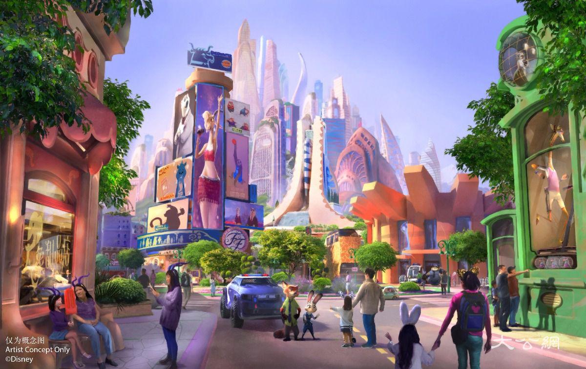 """沪迪园公布扩建新计划 将建全球首个""""疯狂动物城""""主题园区"""