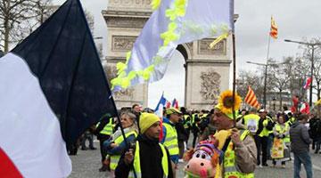 巴黎遭遇第16轮示威 参与人数再度下降