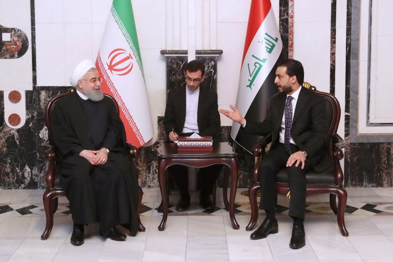 伊朗总统鲁哈尼首访伊拉克 抗衡美制裁  第1张