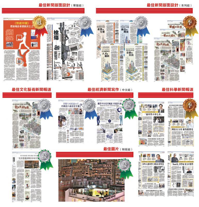 ?大文集团夺15项最佳新闻奖 《大公报》版面设计夺四奖