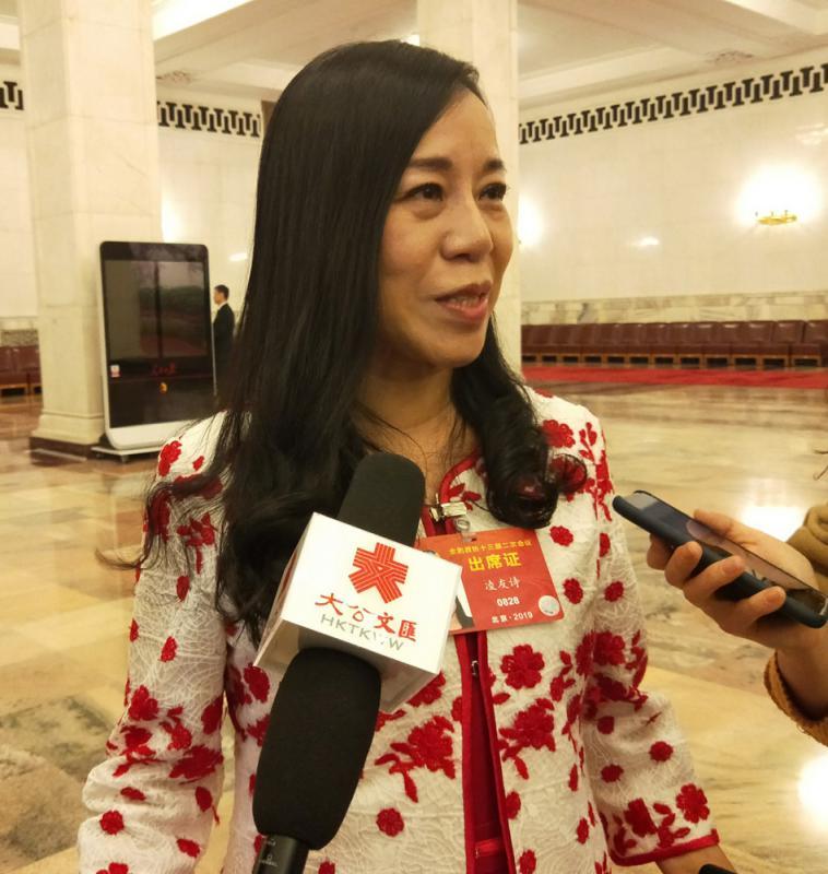 台当局重罚12.7万元 凌友诗违反人权