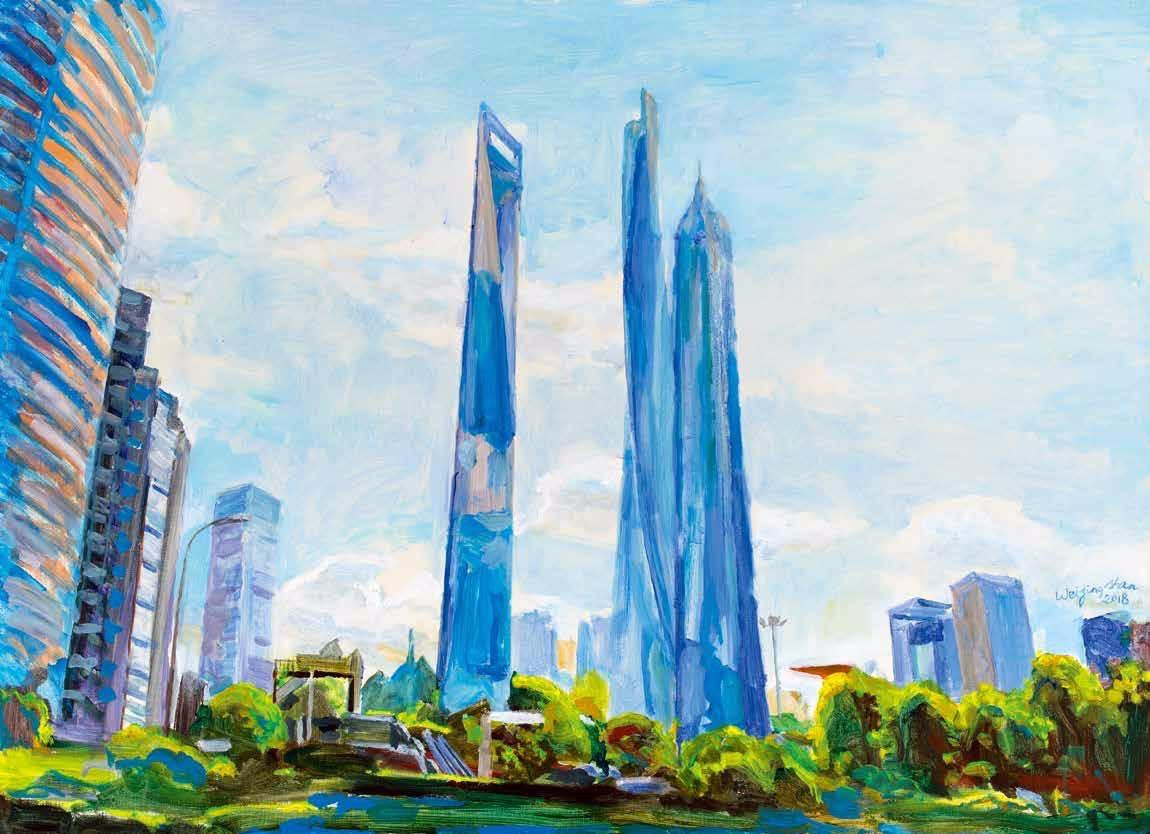 献礼建国七十年 耗时两年采风创作——沪画家首次全景记录生态文明成果