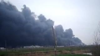 江苏盐城一化工园区内发生爆炸 现场已救出31人