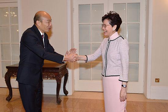 韓國瑜訪港|林鄭月娥:冀進一步推進香港與高雄交流