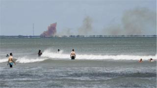 "?SpaceX確認""載人龍""飛船摧毀"