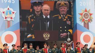 俄红场大阅兵  庆卫国战争胜利74周年