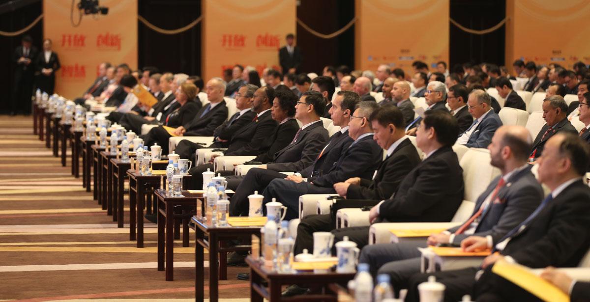 由商务部和北京市人民政府共同举办的2019年中国国际服务贸易交易会于5月28日在北京开幕(摄影 王振)