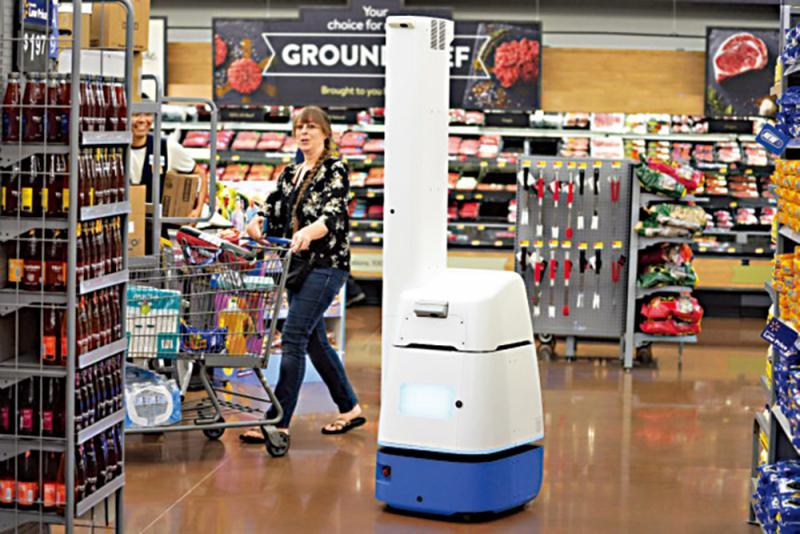 沃尔玛公司部署机器人扫描货架