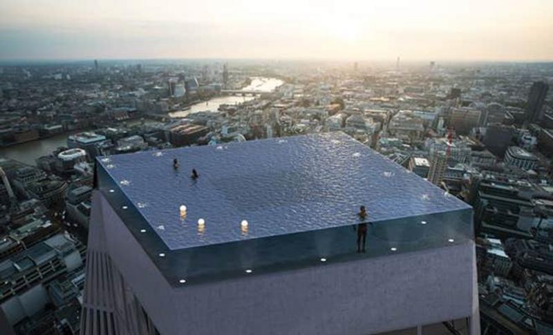 世界首個360度無邊泳池凌空建