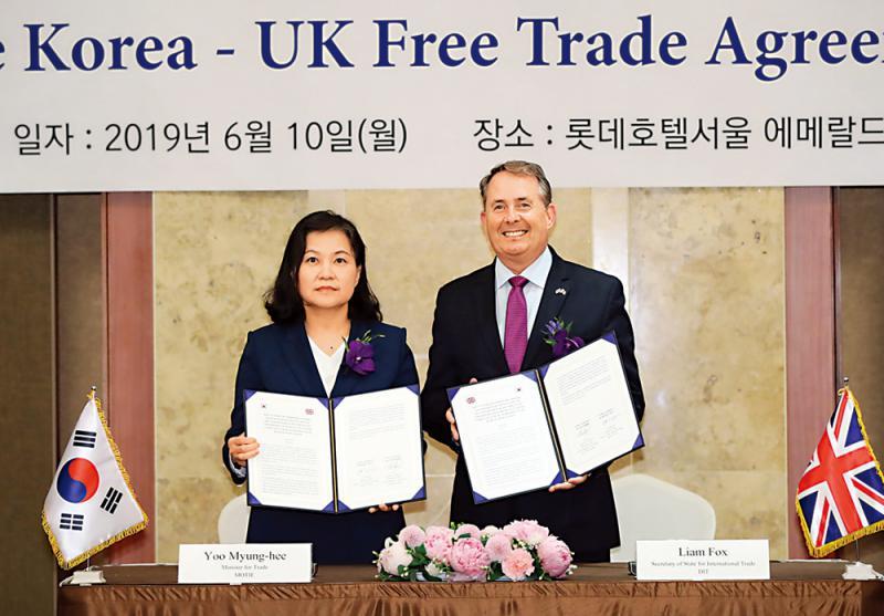 防脫歐風險 韓英締自貿協定